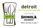 Detroit Restaurant Week, kicking off April 19 and running through Sunday, April 28.