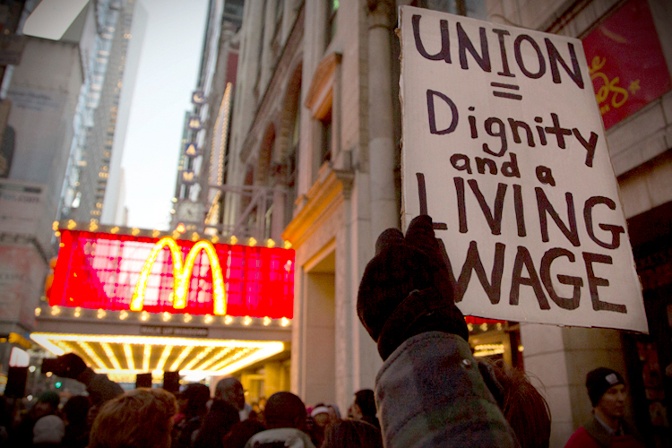 Fast-Food Workers Go on Strike for Higher Pay