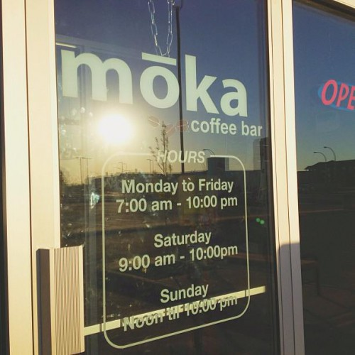 Moka Coffee Bar in Saskatoon, SK