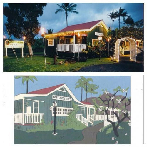 Postcards Cafe in Hanalei, HI