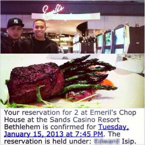 Emeril's Chop House at the Sands Casino Resort in Bethlehem