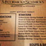 McCormick and Schmick's Seafood in Roseville, CA