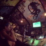 Over the bar -OTB- Bicycle Cafe in Pittsburgh