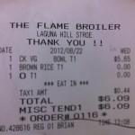 The Flame Broiler in Laguna Hills, CA