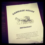 Carriage House Restaurant in Townsend, TN