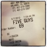Five Guys in Orlando