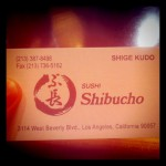 Shibucho in Los Angeles, CA
