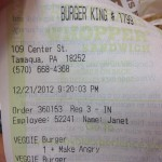 Burger King in Tamaqua