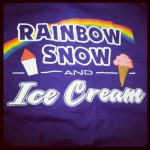 Rainbow Snow and Ice Cream in Palmyra, PA