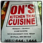 On's Kitchen Thai Cuisine in Saint Paul, MN