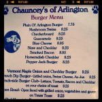 Chauncey's Family Dining in Arlington, VT