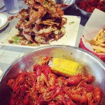 Crawfish and Noodles in Houston