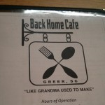 The Back Home Cafe in Greer