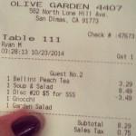Olive Garden Italian Restaurant in San Dimas